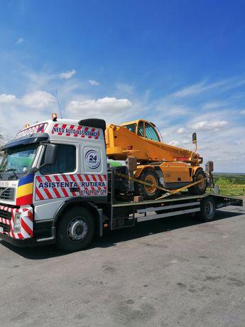 Transport utilaje, buldoexcavator jcb,caterpilar,terex,komatsu etc