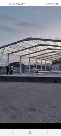 Vând hală metalică 18 m deschidere cu 54 lungime din profil IP