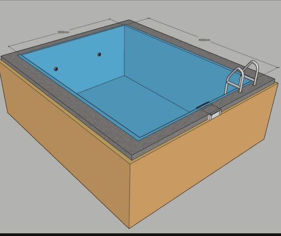 Бассейн плёночный, полипропиленовый