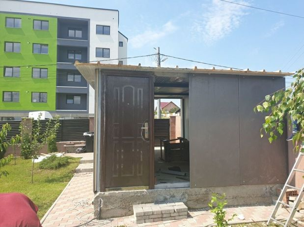 Vand garaj modular pe structura metalică 5x4