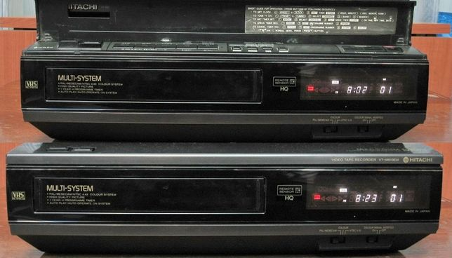 Videorecorder (VHS) Hitachi VT-M619EM, made in Japan, defect