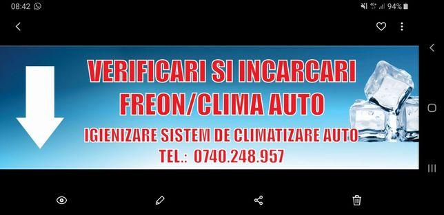 Incarcare FREON, CLIMA, aer conditionat AC auto+ NOUL FREON 1234YF