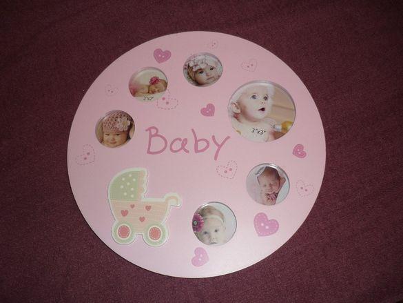 Бебешка рамка за снимки, за момиченце