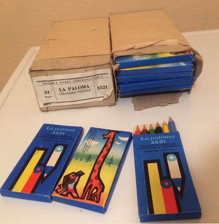 Колекционерски моливи La Paloma Bohemia Works Czechoslovakia