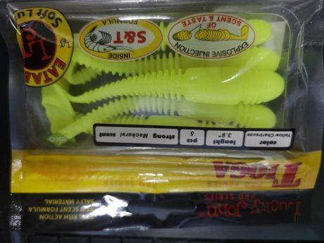 Приманка селиконовая сьедобная Tioga для ловли окуня и судака