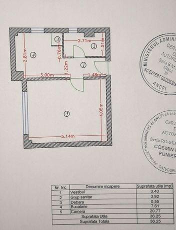Schimb garsoniera cu apartament 2 camere