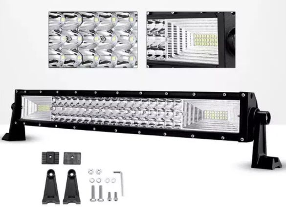 "7D ""TRIPLE ROW"" LED BAR с усилени диоди 54см 324w"