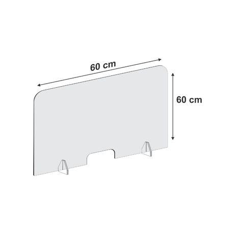 Panou de protectie din plexic, transparent, protectie casierie
