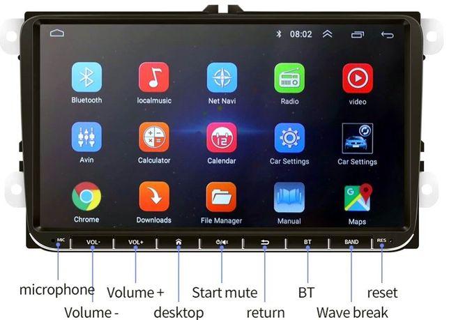 Navigatie 9 inch- Dvd Auto Android 9 Volkswagen VW Skoda Seat WiFi Gps
