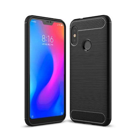 Луксозен черен калъф карбон Carbon за Xiaomi Mi A2 Lite
