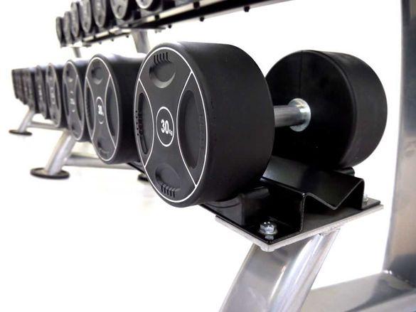 Уретанови Дъмбели Сет 5-40 кг, 13 чифта Професионални Гири Уретан