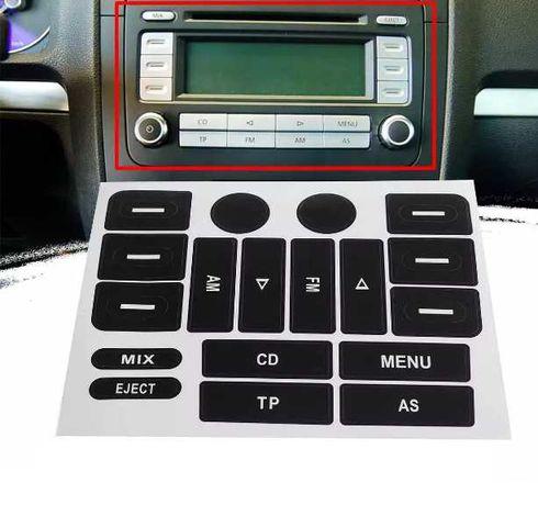 стикери ремoнтен комплект бутони радио Голф 5 Golf 5 Passat B6 Touran