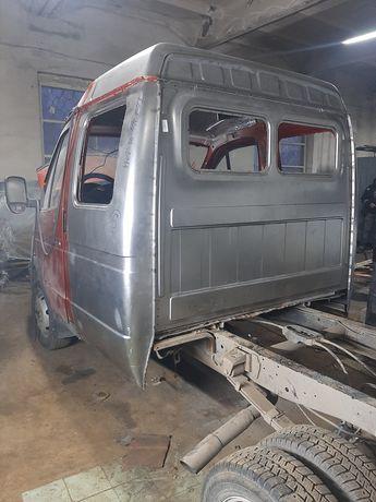 Переоборудование ГАЗЕЛИ. Удлинение рамы.Сборка фургоны термобудки.