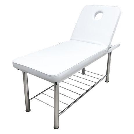 *Козметична кушетка Standart - черна/ сребриста/бяла/ 180 x 61 x 63 см