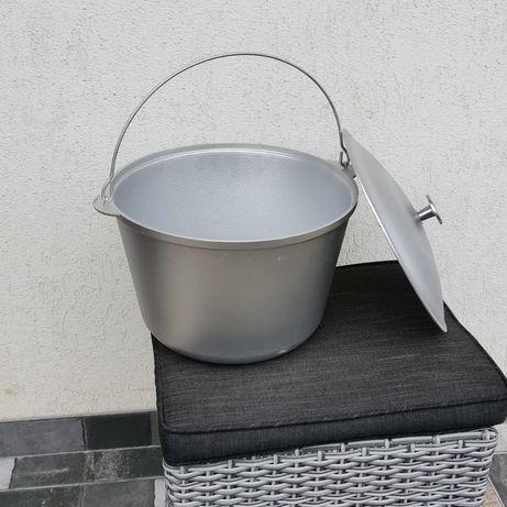Ceaun aluminiu import Ucraina 25 L cu capac