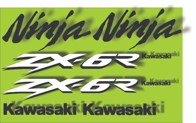 Kit stickere kawasaki zx6r 2000-2002