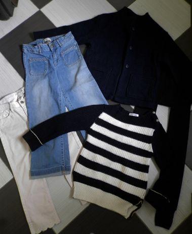 цената е обща: жилетка/палто, дънки, пуловер zara и др