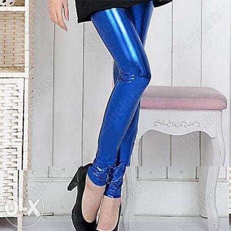 Colanti dama pantaloni stretch spandex neon luciosi discoteca fitness