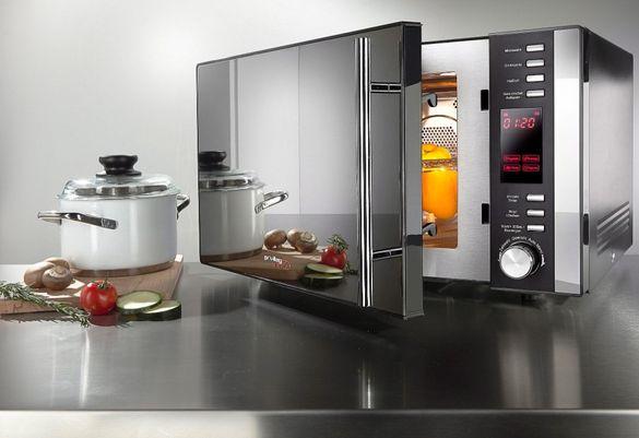 Микровълнова печка Privileg , скара и горещ въздух, 25 л