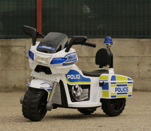 Motocicleta electrica pentru copii Police Motorbike TR1912 45W 6V#Blue