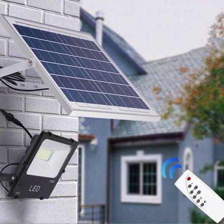 Мощна соларна лампа 50/80/120W с дистанционно тип акумулаторен проже