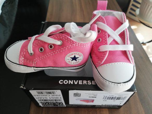 Нови бебешки обувки / кецове Converse First Star Pink