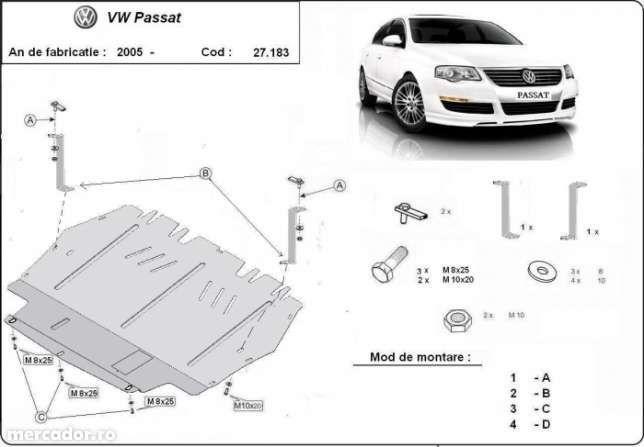 Scut metalic pentru motor VW Passat 2005-2014 - otel 2mm
