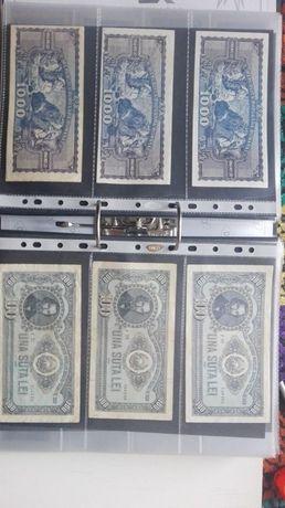 set de 10 folii pentru bancnote sau carti postale