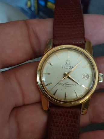 Titus automatic cu data super trasnistor 30 jewels eta 2452 vintage