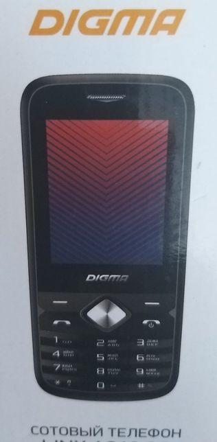 Новый моб/тел с 2 сим картами DIGMA, дисплей 2.4,блютуз,интернет
