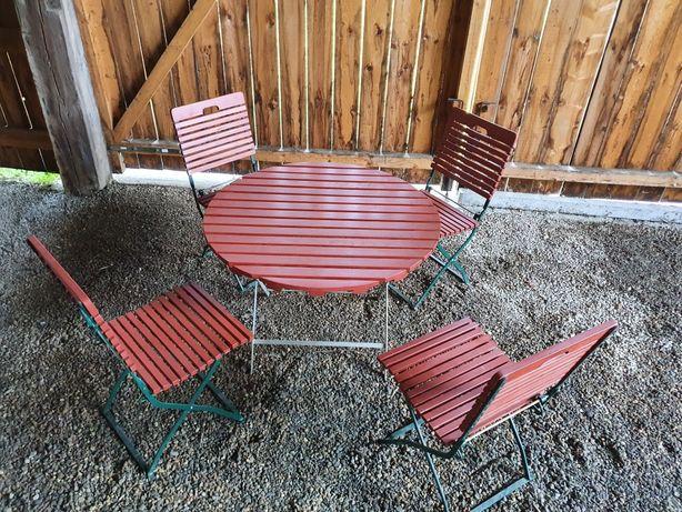 Masa + scaune de curte