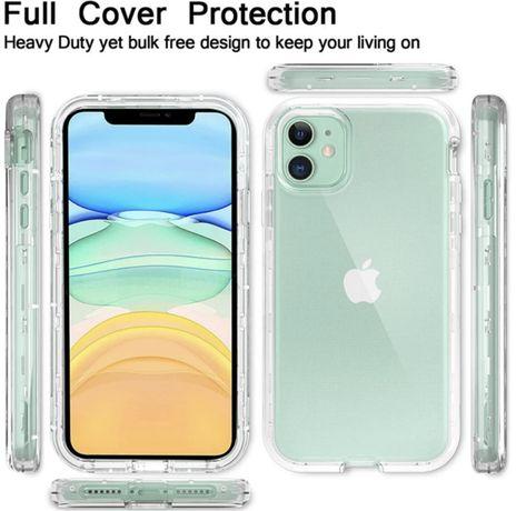 iPHONE 11 и iPHONE XR нови силиконови кейсове 360 градуса с теърд гръб