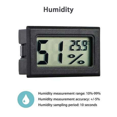 Миниатюрен термо влаго метър Регулатор на оборотите и Климат контролер
