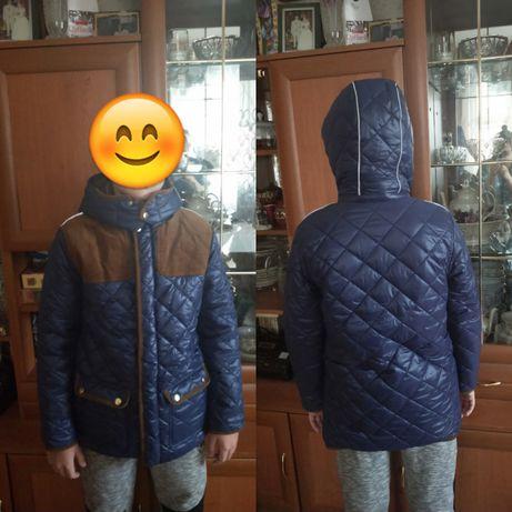 Новая утепленная куртка для мальчика 12 лет