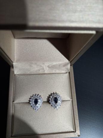 Cercei cu diamante