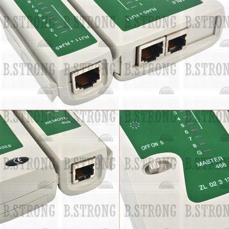 Tester Cablu retea ACTIVE, RJ45 + telefon RJ11, UTP, FTP, Internet
