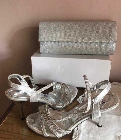 Официални/бални чанта и обувки 39ти номер