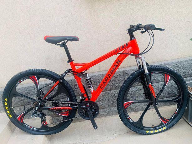 """Bicicleta 26"""" inch frane disc supensie fata spate"""