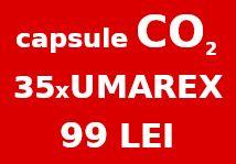Pachet 35 capsule CO2 UMAREX 99 lei ( butelii / fiole )