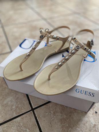 Sandale  Guess cu detalii argintii