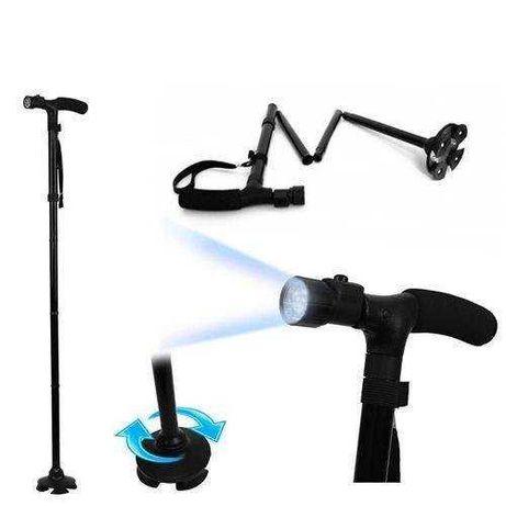 трость складная  телескопичекая с фонариком