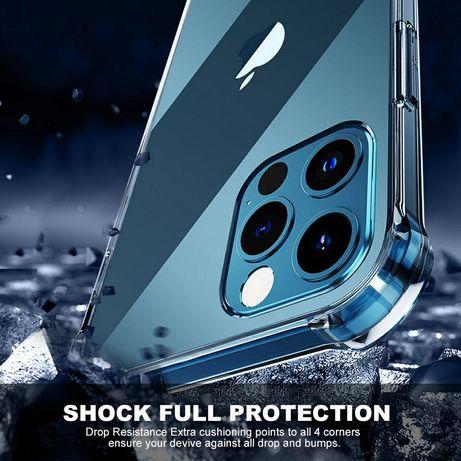 Прозрачен Силиконов Удароустойчив Кейс за Apple iPhone 12 / 12 Pro