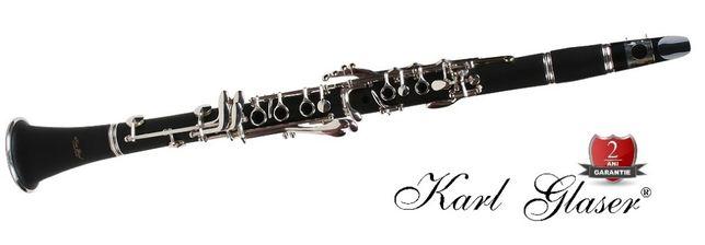 Clarinet Karl Glaser® Bb(Si bemol) Böhm sistem 17clape+6 inele ebonita