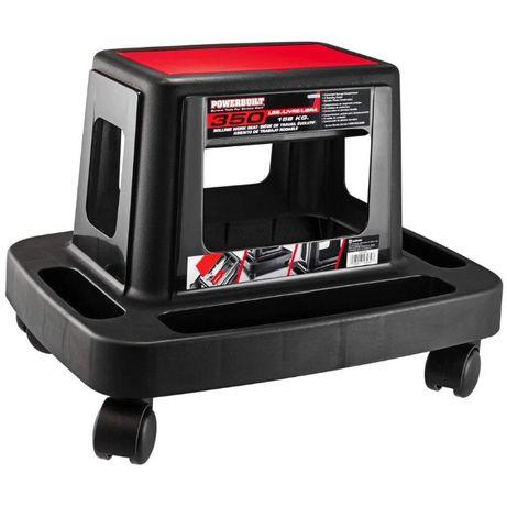 Автомонтьорски стол с поставки за инструменти