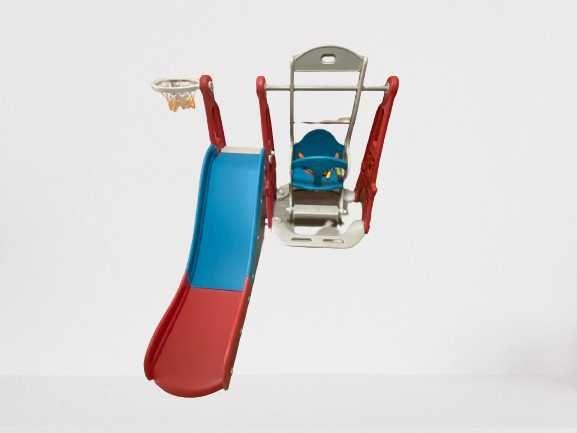 Детска пързалка с люлка и баскетболен кош