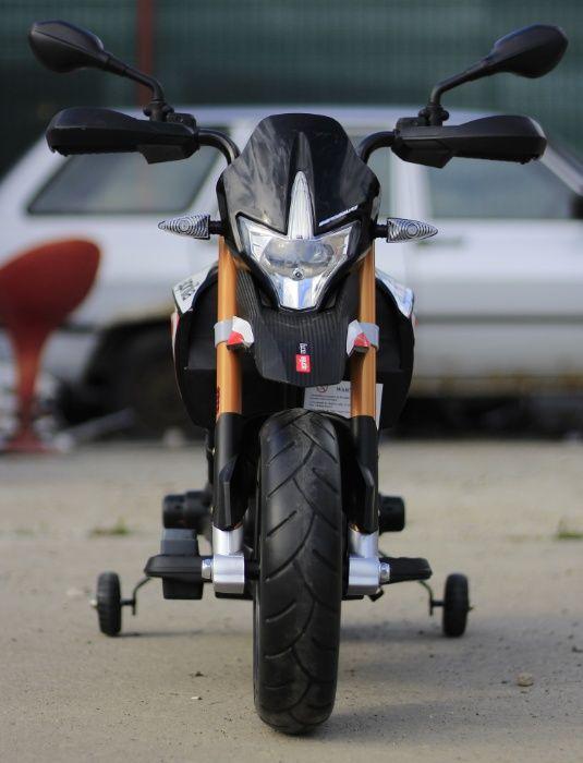 Motocicleta electrica pentru copii APRILIA DORSODURO 900 60W #Black