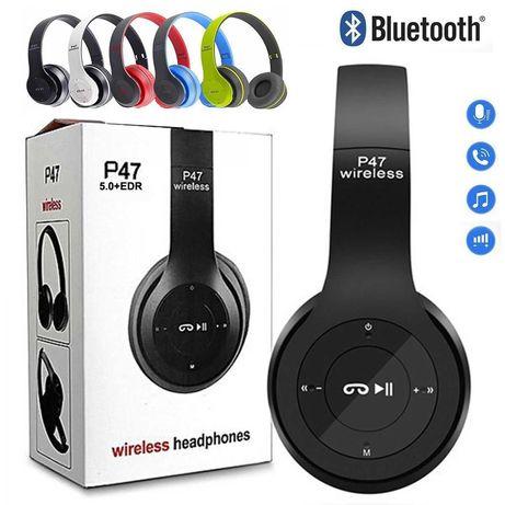 Безжични блутут слушалки P47 FM Радио/MP3 Плеер/микрофон/5цвята