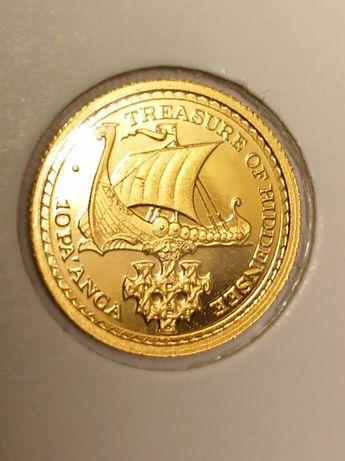 Superbă monedă de aur de colecție  Tonga 10 Pa'anga