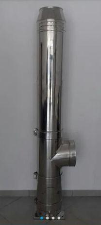 COS DE FUM INOX , Diam. 180/250 mm, H=5M, dublu perete , izolat