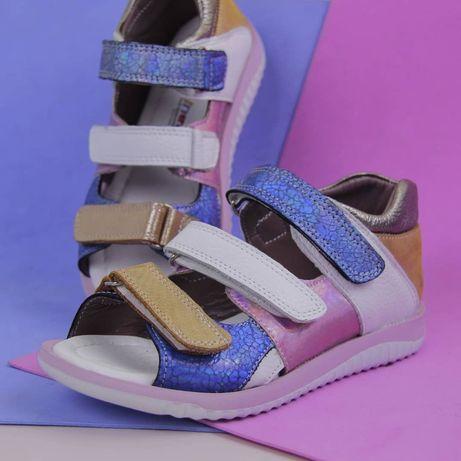 Детская обувь, детские сандалии, ортопедические кожаные сандали.